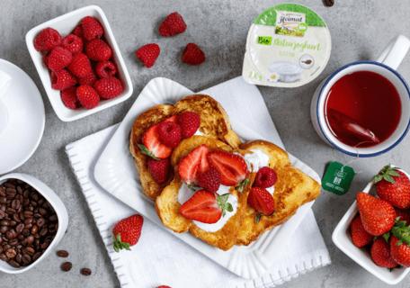 Frühstück zu den Rezepten