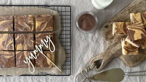 Marmorkuchen am Blech