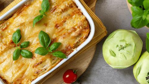 Rustikales Kartoffel-Kohlrabi-Gratin