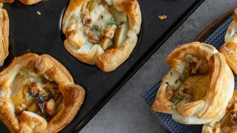 Birnen-Gorgonzola-Pastetchen