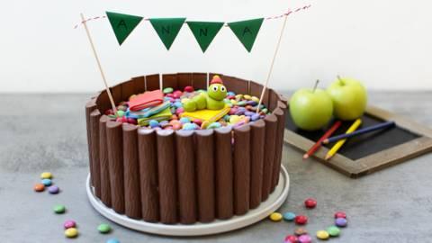 Lustige Torte zum Schulanfang