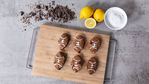 Football-Brownies zum Super Bowl