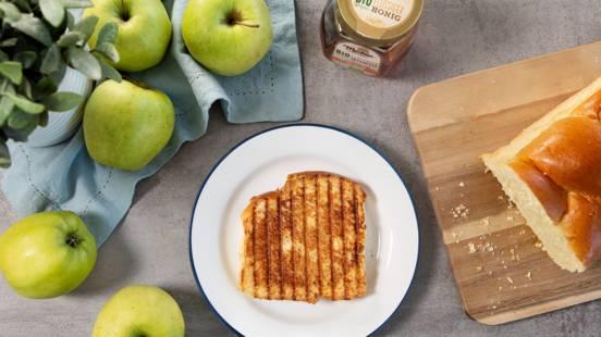 Knusprige Apfelkuchen-Panini