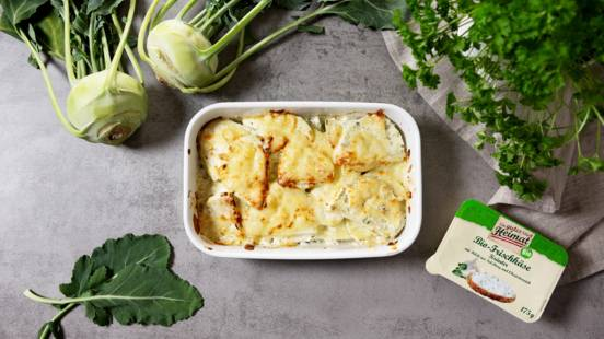 Low-Carb Kohlrabi-Gratin