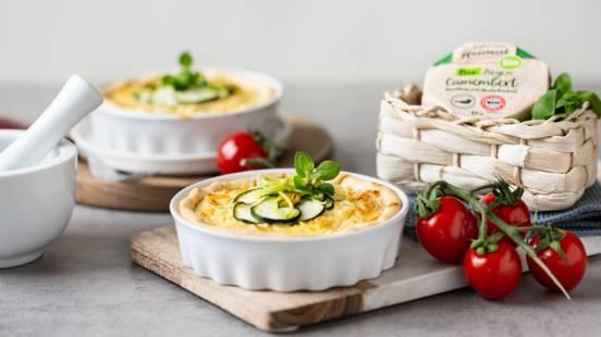 Würzige Zucchini-Lauch-Quiche