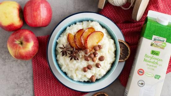 Warmer Milchreis mit Apfel und Zimt