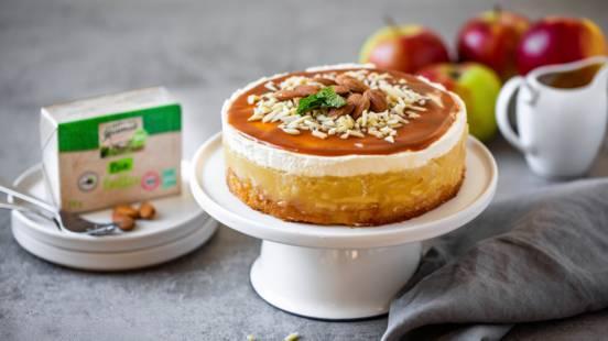 Apfel-Mandel-Torte mit Karamellsauce