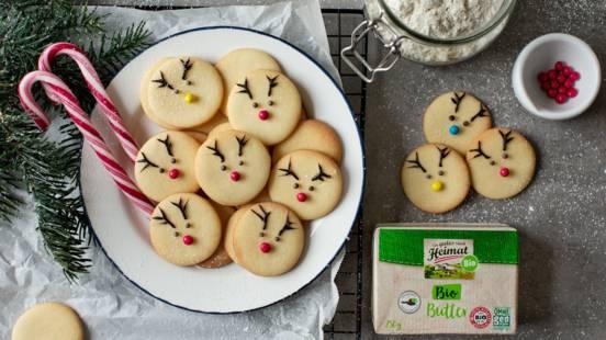 Süße Rentier-Kekse
