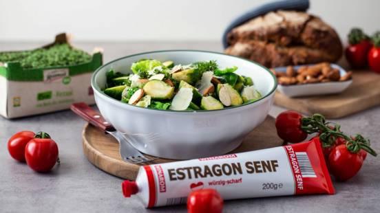 Kohlsprossen-Salat mit Senfdressing