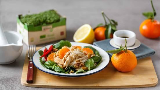 Asiatischer Hühnersalat mit Mandarinen