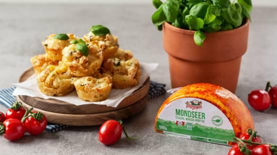 Nudelmuffins mit Käse