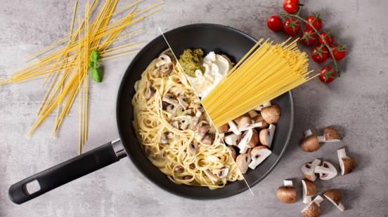 One-Pot-Pasta mit Champignons