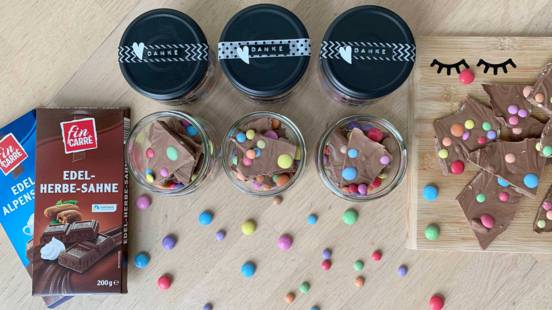 Bruchschokolade als Geburtstags-Give-away