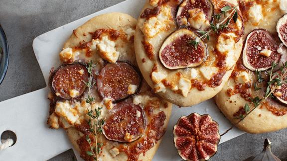 Feigenpizza mit Ziegenkäse