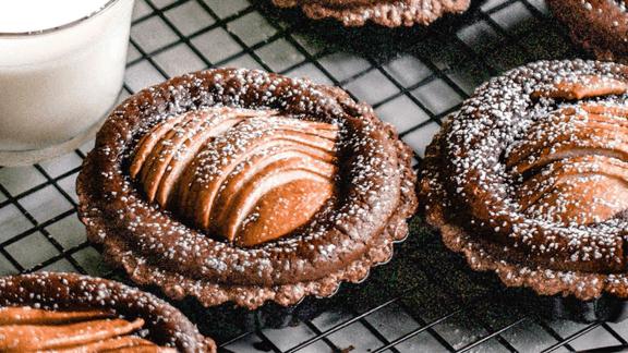 Birnen-Schoko-Tartelettes