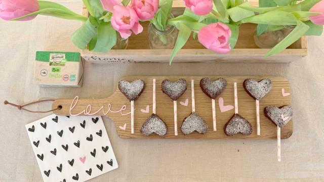 Brownie-Herzen