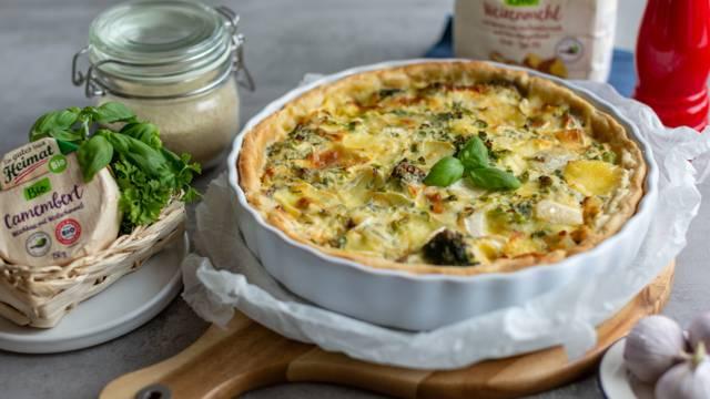 Brokkoli-Camembert-Quiche