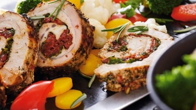 Schweinerollbraten mit Buttergemüse