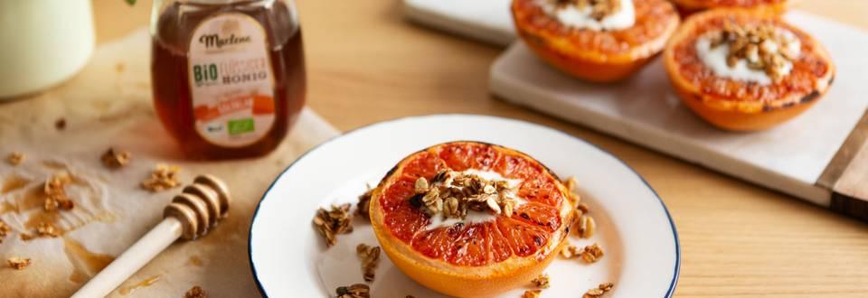 Gebackene Grapefruits mit Granola