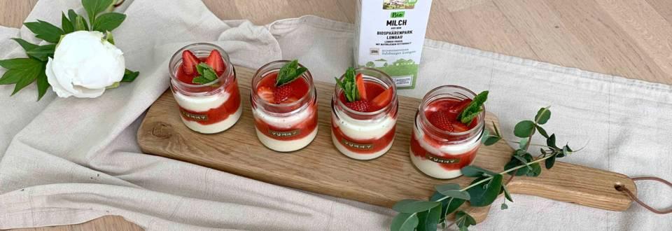 Dessert im Glas: Grießflammerie