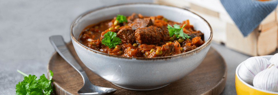 Erbseneintopf mit Rindfleisch