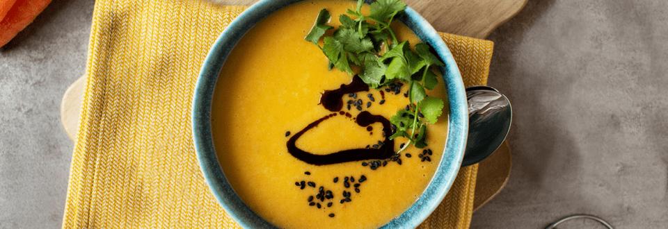 Cremige Karottensuppe mit Ingwer