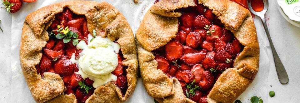 Erdbeer-Galettes mit Topfenblätterteig