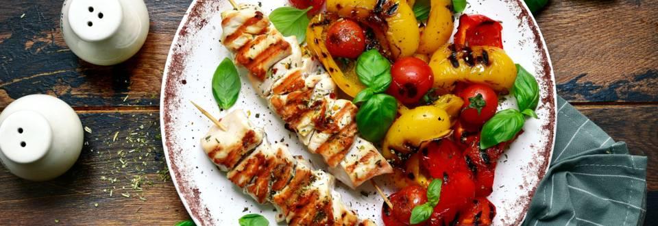 Puten-Grillies mit sommerlichem Grillgemüse