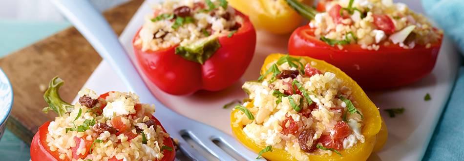 Orientalisch gefüllte Paprika
