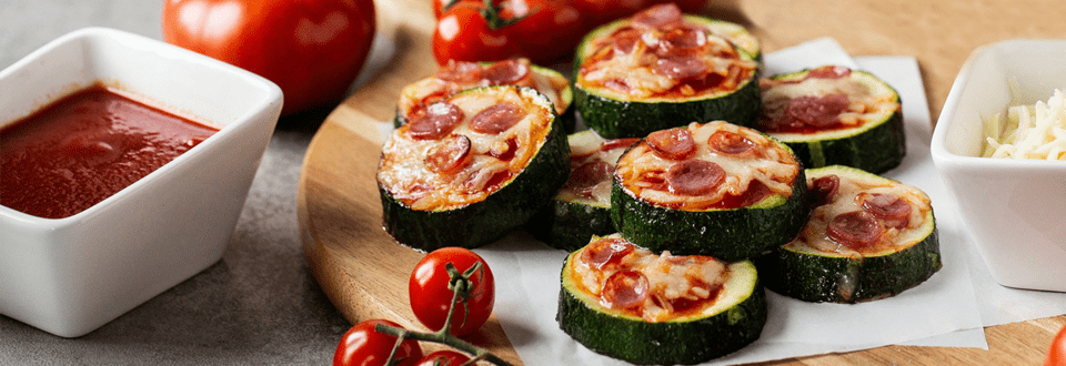 Low-Carb Zucchini-Pizza