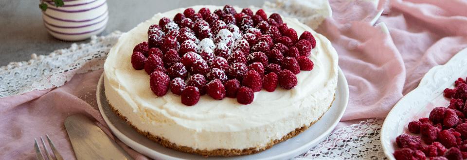 Skyr-Cheesecake mit Himbeeren