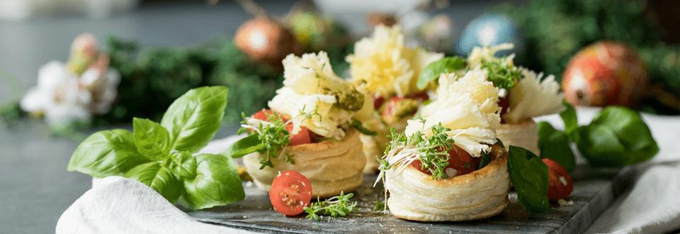 Tomatenpastetchen mit Tête de Moine