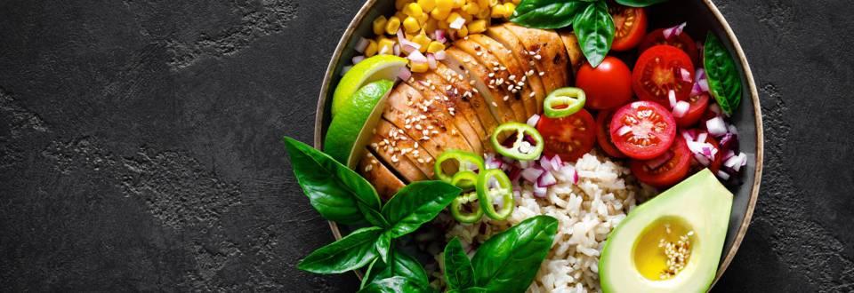 Chicken Bowl mit Reis