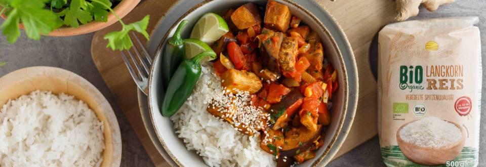 Vegetarisches Melanzani-Curry