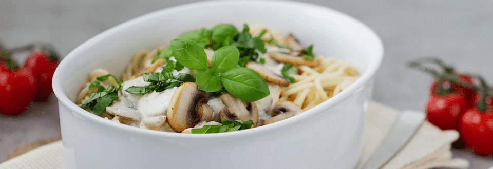 Spaghetti mit Champignons