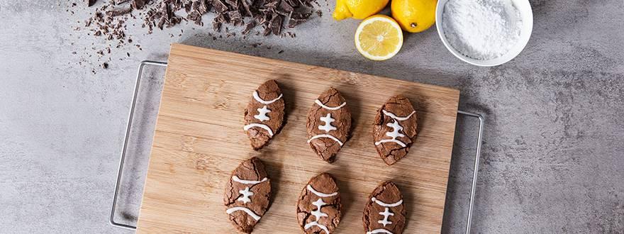 Football-Brownies zum Super Bowl